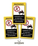 Bow case warning label (3 pack)