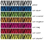 Zebra Fluorescent arrow wraps